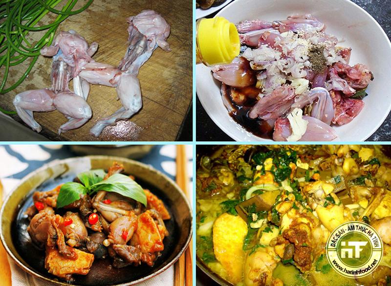 Món ăn ếch đồng Hương Sơn